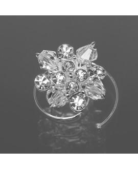 Set van prachtige curlies met kristallen en glazen parels