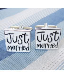 Manchetknopen Just married