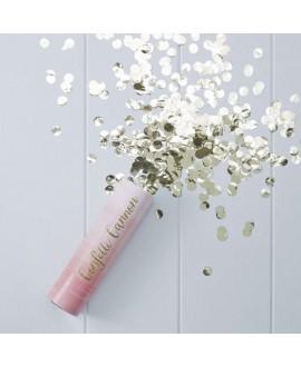 Confettikanon ombre roze met gouden confetti - Pick & Mix