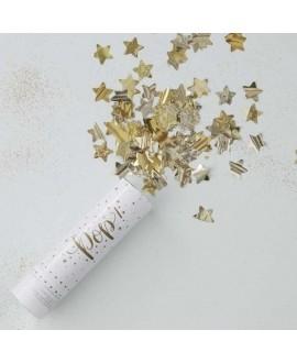 Gouden Confettikanon - Metallic Star