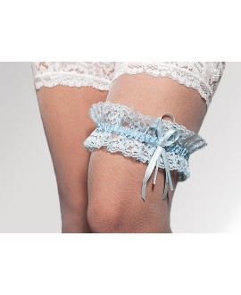 Prachtige kousenband blauw