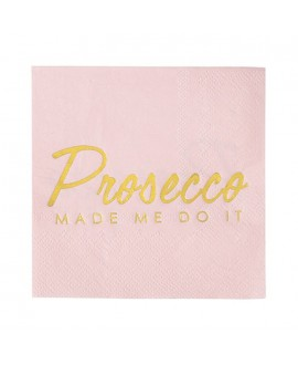 "Talking Tables ""Prosecco Made Me Do It"" Servetten (16st)"