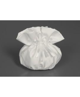 Satijnen bruids-pouche met parels