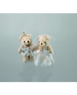 Emmerling bruid en bruidegom teddyberen 13010