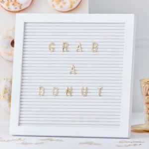 Letterbord gouden letters | Gold Wedding