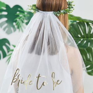Ginger Ray BS-421 Botanical Hen Bride to Be Sluier