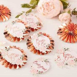 Ginger Ray FH-204 Floral Hen Badges